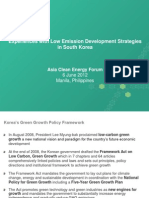Darius Nassiry - Experiences With Low Emission Development Strategies in South Korea