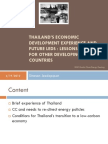 Sitanon Jesdapipat - Thailand's Economic Development Experience and Future LEDS