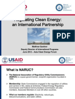 Matthew Gardner - Regulating Clean Energy an International Partnership