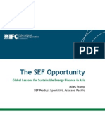 Miles Stump - The SEF Opportunity