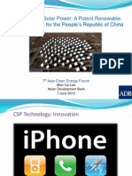 Woo Yul Lee - Concentrating Solar Power A Potent Renewable-Energy Solution for the People's Republic of China