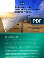 Don Purka - Solar Power in India ADB's Guarantee Facility and Technical Assistance Program