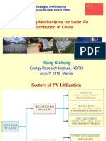 Wang Sicheng - Financing Mechanisms for Solar PV Distribution in China
