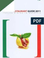 Italian Restaurant Guide (Annual) - 2011 - IlLido