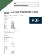 Aula 22 - Exercícos Regras de inferência - Predicado e Quantificadores (Gabarito)
