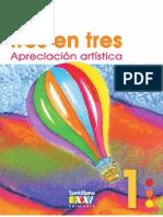 DE TRES EN TRES APRECIACION ARTISTICA 1°