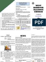 Church Newsletter - 17 June 2012