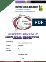 DISEÑO DE LOSA BIDIRECCIONAL