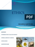 Ppt. Science and Ethics.by SHARIQ QAYYUM