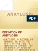 Presentation on Ankylosis