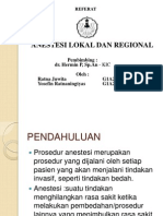 Anestesi Lokal Dan Regional