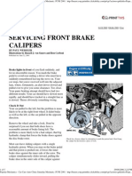 Popular Mechanics - Servicing Front Brake Calipers