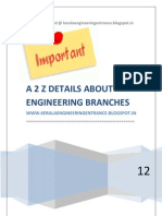 A 2 Z DETAILS ABOUT ENGINEERING BRANCHES