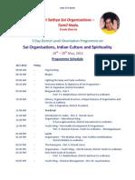 Programme Schedule for 3 Days Workshop 1
