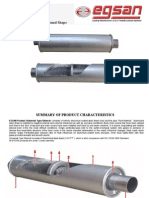 Egsan Exhaust Systems - Universal Type Silencer Specification