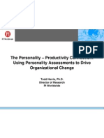 Using Personality Assessments to Drive Organizational Change