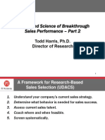 The Art and Science of Breakthrough Sales Performance - Part 2
