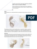 Supplement to string bag patterns and colour dyes