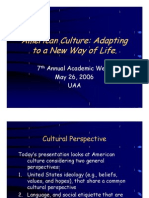 hutterities and american culture psychology cognitive science american culture
