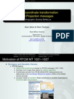 RTCM coördinaat transformatie berichten
