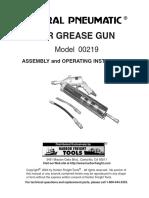 Air Grease Gun Model 00219