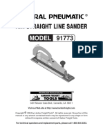 Air Straight Line Sander Model 91773