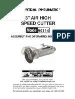 Three Inch Air High Speed Cutter Model 90114