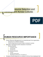 Human Resource and Employee Motivation Comparative Analysis