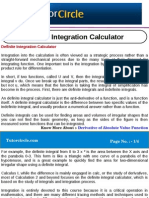 Definite Integration Calculator