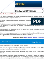 How to Find Area of Triangle