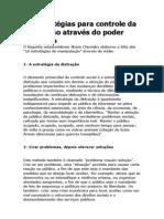 10 Estratégias para controle da população através do poder midiático