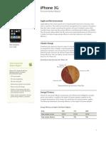 iPhone 3G Environmental Report