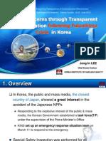 Lee - Addressing public concerns through transparent communication