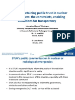 Reiman - Gaining and retaining public trust in nuclear power matters