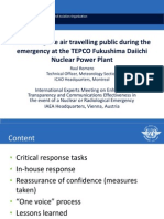 Romero - Reassuring the air travelling public during the emergency at the TEPCO Fukushima Daiichi Nuclear