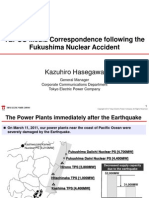 Hasegawa - Media Correspondence Activities following the Fukushima Nuclear Accident