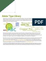 Adobe Type Library