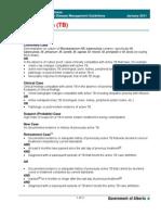 Guidelines Tuberculosis Canada 2011