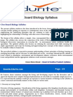Cbse Board Biology Syllabus