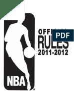 NBA Rulebook 2011-2012