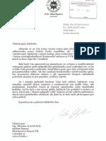 Dopis ministru Kalouskovi