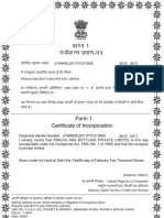 Incorporation Certificate Prachi Gas