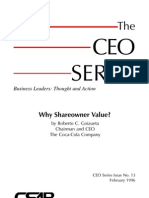Why Shareowner Value