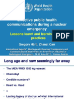 Haertl - Effective public health communications during a nuclear emergency