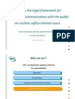 Lacoste - Creating the legal framework for transparent communications with the public on nuclear safety related issues