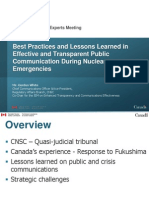 White - , Best Practices and Lessons Learned in Effective and Transparent Public Communication during Emergencies of Major Public Concern ‐ A Canadian Perspective (Canada)