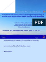 Wotawa - Best practices and lessons learned in preparing and implementing an effective public communication strategy during a nuclear emergency (Austria)