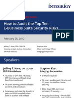 How to Audit the Top Ten E-Business Suite Security Risks Final