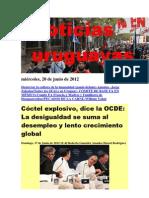 Noticias Uruguayas miércoles 20 de junio del 2012