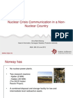 Ostreng - Nuclear Crisis Communication in a Non- Nuclear Country